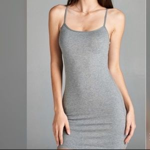 TOPSHOP Bodycon Cami Dress in Grey NWT